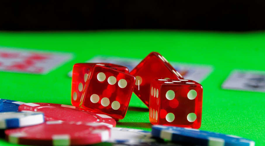 Dice and gambling chips.
