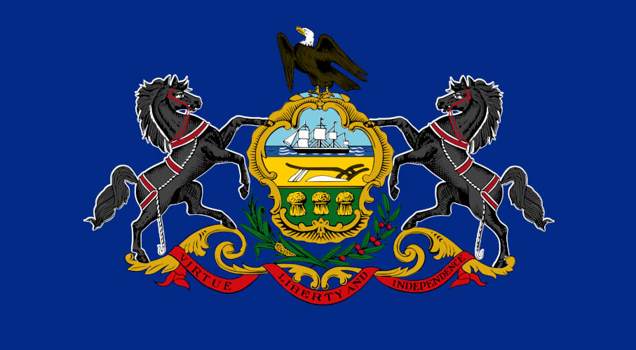 Pennsylvania's official state flag.