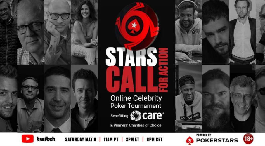 Official Stars Call For Action tournament poster by PokerStars