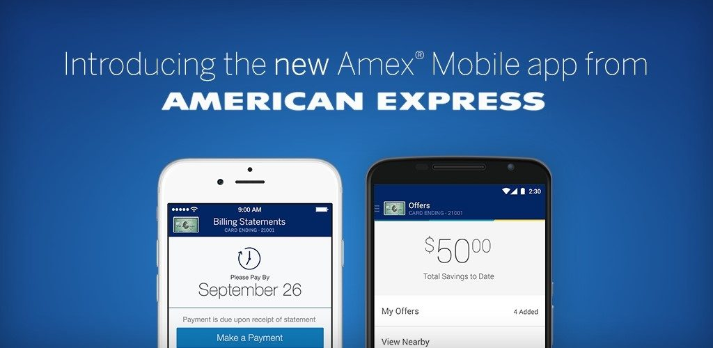 : American Express mobile.