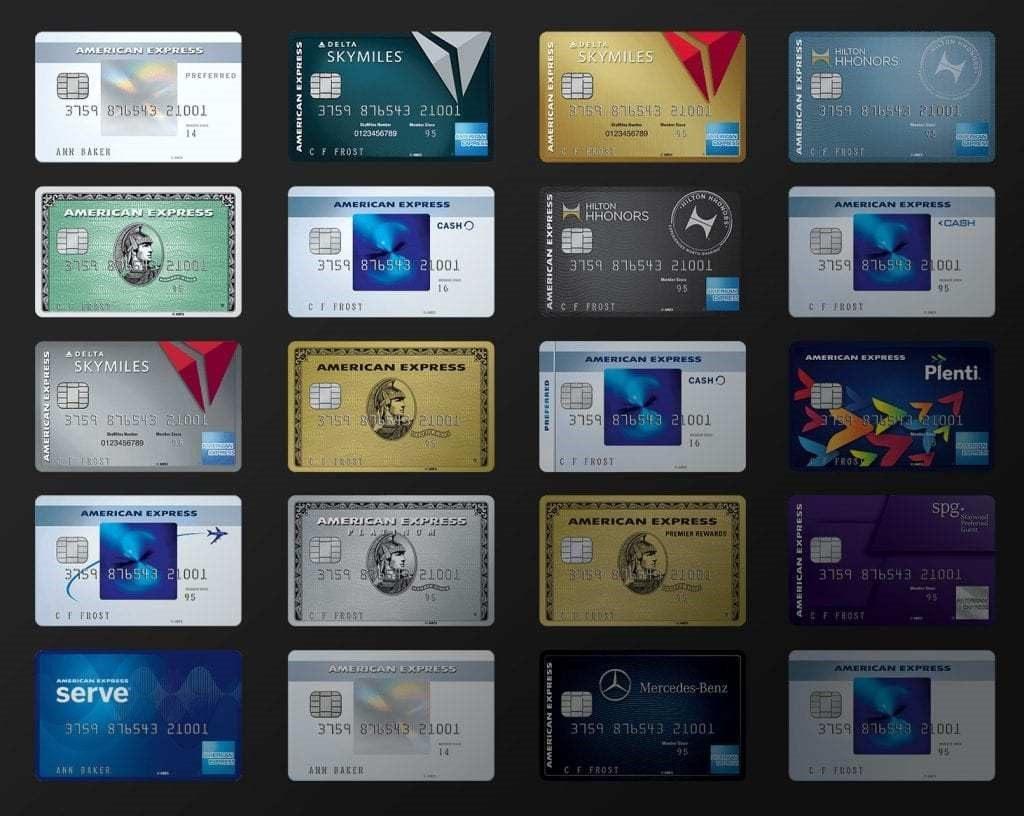AMEX credit cards.