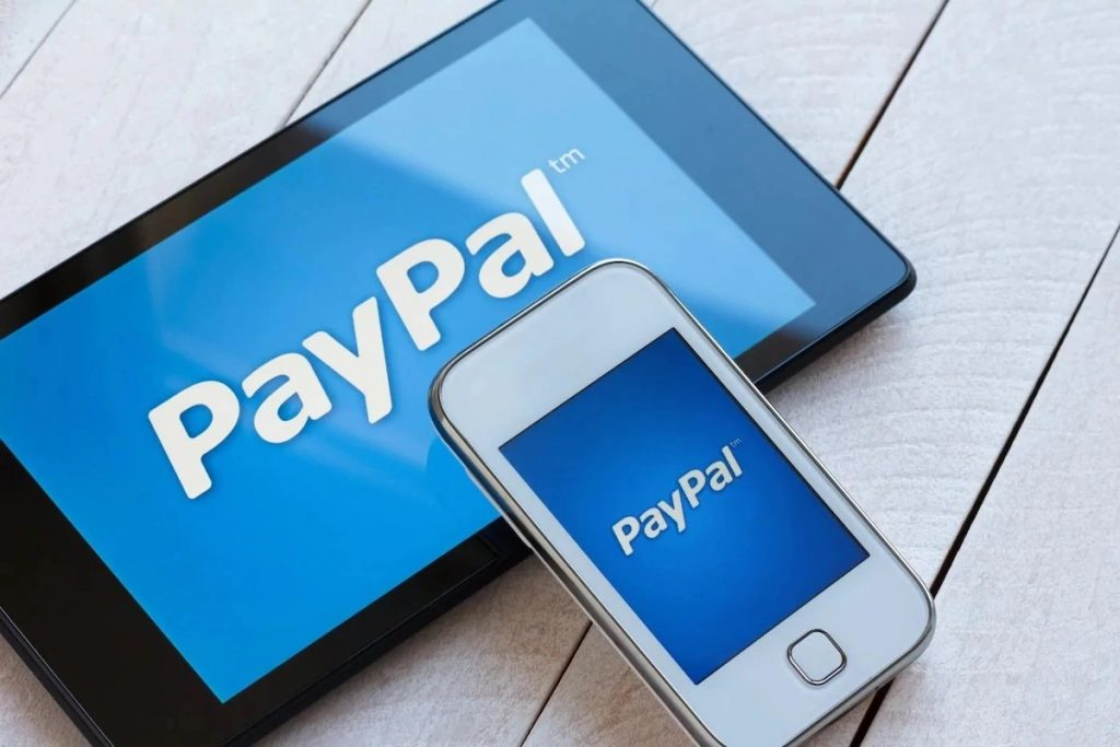PayPal on mobile.